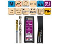Sada str.záv.M10x1,5 ISO2 HSSCo5 TiN DIN371RSP35 CZZ2260+vrták CZ004-08,50mm