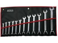 12dílná sada klíčů s př.páčkou vy.15°, ISO1711-1 ve vinylovém pouzdře (8 - 24mm)