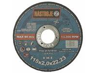 Kotouč řezný 115x2,0x22 na ocel a nerez 50 ks v bal.